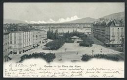 SUISSE  GENEVE... PRECURSEUR...LA PLACE DES ALPES...C2895 - GE Geneva