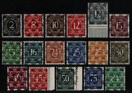 Bizone 1948 - Mi-Nr. 52-68 II ** - MNH - Netz - BPP-Fotoattest - Zone Anglo-Américaine