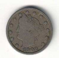 USA 5 V Cents 1902 - Emissioni Federali