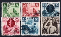 Russia 1936 Unif. 583A/88A Usati/Used VF - Usati