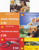 7 Different Gift Cards - - - Shell Germany - Allemagne - Gift Cards