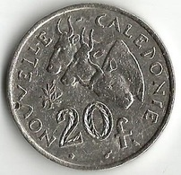 1 Pièce De Monnaie 20  Francs 1967 - Nouvelle-Calédonie