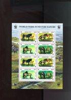 MONGOLIA Horses Hologram WWF FAUNA MNH - W.W.F.