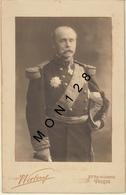 PHOTO WALERY PARIS - GENERAL AMBASSADEUR AU SAINT SIEGE A IDENTIFIER -  PHOTO COLLEE SUR CARTON 13x21 Cms - Guerre, Militaire