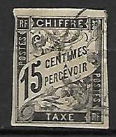 COLONIES . Emissions Générales   -   TAXE   -   1884  .  Y&T N° 7 Oblitéré  . - Portomarken