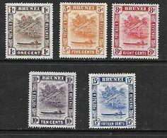 Brunei, 1947, 1,5, 8, 10, 16 Cents, Perf 14 , MH * - Brunei (...-1984)