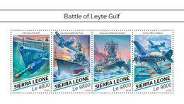 SIERRA LEONE 2018 - WW2: Leyte Gulf. Official Issue. - WW2