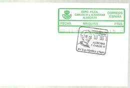 ETIQUETAS 1990  EXPO CARLOS III  ALGECIRAS - 1931-Oggi: 2. Rep. - ... Juan Carlos I
