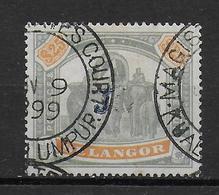 SELANGOR - TRES RARE YVERT N° 25 OBLITERE FILIGRANE CC - COTE = 2500 EUR. - ELEPHANTS - Selangor