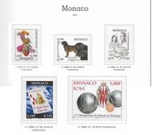 MONACO ANNEE COMPLETE 2001 Du N°2295 Au 2318 - NEUF * * LUXE - Full Years