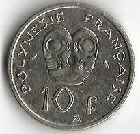 1 Pièce De Monnaie 10  Francs 1972 - French Polynesia