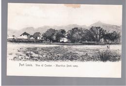 MAURITIUS Port Louis View Of Candan Mauritius Dock Camp Ca 1910 OLD POSTCARD 2 Scans - Mauritius
