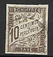 COLONIES . Emissions Générales   -   TAXE   -   1893  .  Y&T N° 19 Oblitéré  . - Taxes