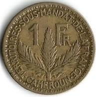 1 Pièce De Monnaie 1  Franc  1924 Territoires Sous Mandat De La France - Cameroon