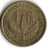 1 Pièce De Monnaie 1  Franc  1925 Territoires Sous Mandat De La France - Cameroun
