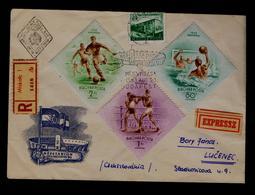 Boxe Football Water-Polo  HUNGARY Miskolc 1953 Sports Fdc #9774 - Boxe