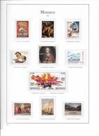 MONACO ANNEE COMPLETE 2002 Du N°2319 Au 2381 + BF 86 à 88 - NEUF * * LUXE - Full Years