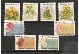 PAPOUASIE Et NOUVELLE GUINÉE Fleurs Année 1989 N°Y/T : 579/582-601/604** - Papouasie-Nouvelle-Guinée