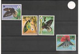 PAPOUASIE Et NOUVELLE GUINÉE Papillons-Butterflies Année 1988 N°Y/T :569/72** Côte: 15,00 € - Papouasie-Nouvelle-Guinée