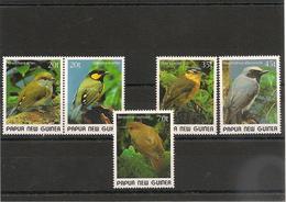 PAPOUASIE Et NOUVELLE GUINÉE Oiseaux- Birds Année 1989 N°Y/T : 591/95** - Papúa Nueva Guinea
