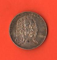 Medaglia Voltaire Anni 70 In Argento Collezione Grandi Francesi I François - Marie Arouet - Altri