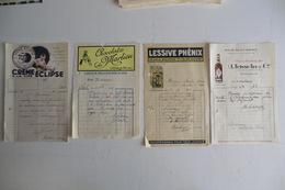 VIEUX PAPIERS PUBLICITE. CREME ECLIPSE. CHOCOLAT DE MARLIEU. LESSIVE PHENIX. RHUM SAINT ESPRIT. 1933. - Publicités