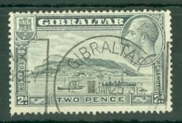 Gibraltar: 1931/33   KGV - Rock Of Gibraltar    SG112    2d   [Perf: 14]    Used - Gibilterra