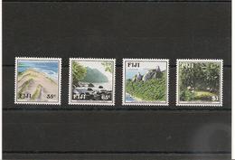 FIJI  Paysages Fidjiens Année 1991 N°Y/T :633/36** Côte : 11,00 € - Fidji (1970-...)