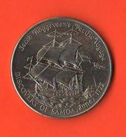 Western Samoa I Sisifo One Dollar 1972 Roggeveen's Pacificvoyage Schip Navi - Samoa