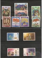 FIJI  Noël Années  1987/90 N°Y/T : 571/74- 611/14-629/32** Côte : 25,00 € - Fidji (1970-...)