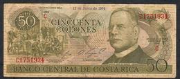 COSTA RICA P239e 50 COLONES 12.6.1974 FINE NO P.h. - Costa Rica