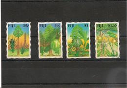 FIJI  Flore: Arbres- Trees Année  1990 N°Y/T : 625/28** Côte : 12,00 € - Fidji (1970-...)
