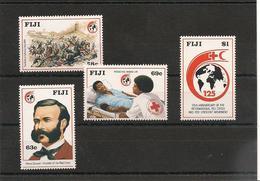 FIJI  Croix Rouge Année  1989 N°Y/T : 595/98** - Fidji (1970-...)