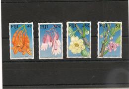 FIJI  Flore  Année  1988 N°Y/T : 591/94** - Fidji (1970-...)
