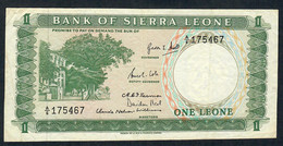 SIERRA LEONE P1a 1 LEONE  1964  # A/6  VF NO P.h. ! - Sierra Leone