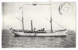 """Cpa: BATEAU - Le Navire Hôpital """"Sainte Jehanne"""" 1915  Ed. W.F. Pour Les Oeuvres De Mer - Bateaux"""