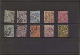 MONACO - TIMBRES N° 11 A 20 OBLITERES -TB - ANNEE 1891-94 - COTE 126 € - Monaco