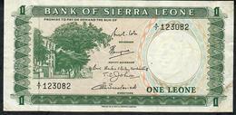 SIERRA LEONE P1b 1 LEONE  1969 Signature 3     # A/7  VF NO P.h. ! - Sierra Leona