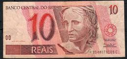BRAZIL P245k 10 REAIS 1994 Signature 26a  # A9344      VF NO P.h. - Brésil