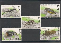 FIJI Insectes/Insect Année  1987 N°Y/T : 566/70** Côte : 16,00 € - Fidji (1970-...)