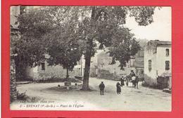 BRENAT PLACE DE L EGLISE CARTE EN BON ETAT - Frankreich
