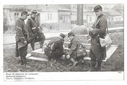 Cpa: MILITAIRE - Poste De Téléphone De Campagne - Battlefied Téléphone 1914 - Matériel