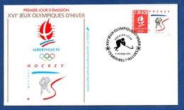 Enveloppe Premier Jour  / Jeux Olympiques Albertville / Hockey / Meribel Les Allues / 9 Février 1991 - FDC