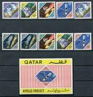 1967 - QATAR- ESPACE-APOLLO- - 11 VAL.  - M.N.H. LUXE !!- - Qatar