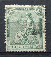 1873 - Yv. N° 132   (o)   10c  Vert  République   Cote  0,45 Euro  BE R  2 Scans - Oblitérés