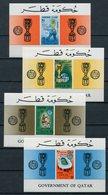 1966 - QATAR- FOOTBALL-LONDON - 4 S.S..  - M.N.H. LUXE !!- - Qatar