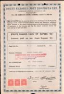 India 1984's Shree Krishna Jute Product Ltd. Share Certificate + Revenue # FA14 - Industry