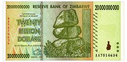 ZIMBABWE 20 MLRD DOLLARS 2008 Pick 86 Unc - Zimbabwe