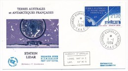 TAAF - Enveloppe FDC - Station Lidar - Dumont D'Urville T. Adélie - 1-1-1994 - FDC