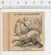 Presse 1902 Humour Animal Fouine Femme Fouineuse ??  51C26 - Vieux Papiers